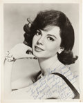 "Movie/TV Memorabilia:Autographs and Signed Items, A Natalie Wood (""Nate"") Signed Black and White Photograph, Circa1964...."