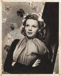 Movie/TV Memorabilia:Autographs and Signed Items, A Judy Garland Signed Black and White Photograph, Early 1940s....