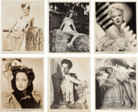 An Actress Group of Signed Black and White Photographs, Circa 1940s