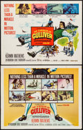 "Movie Posters:Fantasy, The 3 Worlds of Gulliver (Columbia, 1960). Half Sheets (2) (22"" X28"") Styles A & B. Fantasy.. ... (Total: 2 Items)"