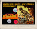 "Movie Posters:Science Fiction, The Valley of Gwangi (Warner Brothers, 1969). Half Sheet (22"" X 28""). Science Fiction.. ..."