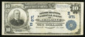 National Bank Notes:Pennsylvania, Meadville, PA - $10 1902 Plain Back Fr. 624 The Merchants NB Ch. #(E)871. ...