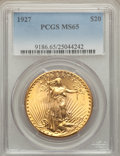 Saint-Gaudens Double Eagles, 1927 $20 MS65 PCGS....