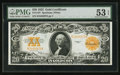 Large Size:Gold Certificates, Fr. 1187 $20 1922 Gold Certificate PMG About Uncirculated 53 EPQ.....