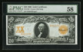 Large Size:Gold Certificates, Fr. 1182 $20 1906 Gold Certificate PMG Choice About Unc 58.. ...