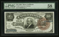 Large Size:Silver Certificates, Fr. 296 $10 1886 Silver Certificate PMG Choice About Unc 58.. ...