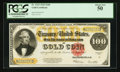 Large Size:Gold Certificates, Fr. 1215 $100 1922 Gold Certificate PCGS About New 50.. ...
