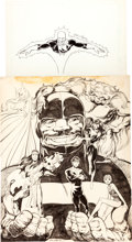 Original Comic Art:Illustrations, John Byrne Alpha Flight Poster Original Art (Marvel, c. 1984)....