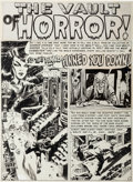 """Original Comic Art:Panel Pages, Wally Wood Haunt of Fear #6 """"So They Finally Pinned YouDown!"""" Title Page 1 Original Art (EC, 1951)...."""