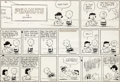 Original Comic Art:Comic Strip Art, Charles Schulz Peanuts Football-Themed Sunday Comic Strip Original Art dated 9-10-61 (United Feature Syndicate, 19...