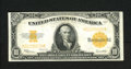 Large Size:Gold Certificates, Fr. 1173 $10 1922 Gold Certificate Very Fine-Extremely Fine. A very strong note for the grade as there are just a few light ...