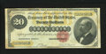 Large Size:Gold Certificates, Fr. 1178 $20 1882 Gold Certificate Fine-Very Fine. After President Garfield was assassinated in 1881, his portrait appeared ...