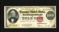 Large Size:Gold Certificates, Fr. 1215 $100 1922 Gold Certificate Fine. The face is nice for thegrade, while the back margins show repairs....