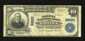 National Bank Notes:Virginia, Norfolk, VA - $10 1902 Plain Back Fr. 627 The Virginia NB Ch. # 9885. This particular issue is quite scarce with this o...
