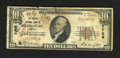 National Bank Notes:Virginia, Petersburg, VA - $10 1929 Ty. 1 The Virginia NB Ch. # 7709. Soilingand a small hole in the first name of cashier B( ) T...
