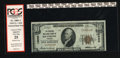 "National Bank Notes:Virginia, Richmond, VA - $10 1929 Ty. 1 The Central NB Ch. # 10080. This is abright note with a red label that states ""internal t..."
