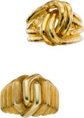 Estate Jewelry:Rings, Henry Dunay Gold Rings. ... (Total: 2 Items)