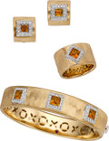 Estate Jewelry:Suites, Roberto Coin Citrine, Diamond, Gold Jewelry. ... (Total: 3 Items)