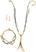 Estate Jewelry:Suites, Gurhan Multi-Stone, Faience, Gold Jewelry. ... (Total: 3 Items)