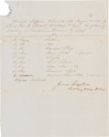 Autographs:Military Figures, James Longstreet Document Signed....