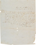 Autographs:Military Figures, [Mexican War]. George E. Pickett Orders Signed...