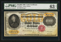Large Size:Gold Certificates, Fr. 1225h $10,000 1900 Gold Certificate PMG Choice Uncirculated 63 Net.. ...