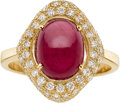 Estate Jewelry:Rings, RUBY, DIAMOND, GOLD RING, ELI FREI. ...