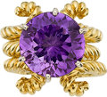 Estate Jewelry:Rings, AMETHYST, GOLD RING SET. ... (Total: 3 Items)