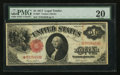 Large Size:Legal Tender Notes, Fr. 36* $1 1917 Legal Tender Note PMG Very Fine 20.. ...