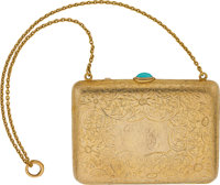 TURQUOISE, GOLD MINAUDIERE