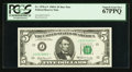 Small Size:Federal Reserve Notes, Fr. 1970-J* $5 1969A Federal Reserve Note. PCGS Superb Gem New 67PPQ.. ...