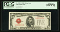Small Size:Legal Tender Notes, Fr. 1530* $5 1928E Legal Tender Note. PCGS About New 53PPQ.. ...