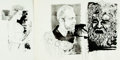 Books:Original Art, [Original Art]. Anthony Saris. Pair of Original Drawings for MacLeish Interview. Published in January, 1960 issue of Horiz...