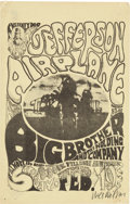 Music Memorabilia:Posters, Jefferson Airplane/Big Brother and the Holding Company FillmoreAuditorium Concert Yellow Version Handbill FD-1 (Family Dog, 1...
