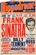 Movie/TV Memorabilia:Posters, A Frank Sinatra Small Concert Poster, 1953....