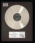 Music Memorabilia:Awards, Dirty Dancing Original Soundtrack UK Platinum Sales Award(RCA, 1987)....