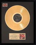 Music Memorabilia:Awards, More Dirty Dancing UK Gold Record Award (RCA, 1988)....