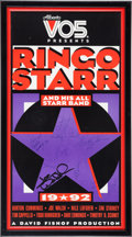 Music Memorabilia:Posters, Beatles - Ringo Starr and His All-Starr Band Signed Poster(1992)....