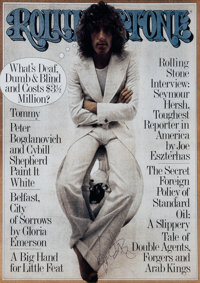 The Who - Roger Daltrey Signed Rolling Stone Poster