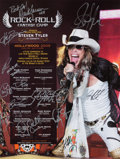 Music Memorabilia:Autographs and Signed Items, Rock 'n' Roll Fantasy Camp Signed Poster (2009)....