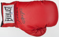 Boxing Collectibles:Autographs, Jake LaMotta and Joe Frazier Multi Signed Boxing Glove....
