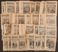 """Boxing Collectibles:Memorabilia, Early 1900's """"Shurley's Edition Famous Fights"""" Publications Lot of 50+...."""