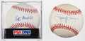 Autographs:Baseballs, Tony Gwynn And Stan Musial Single Signed Baseballs Lot Of 2 One PSAGraded....