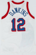 Basketball Collectibles:Uniforms, 1993-94 Johnny Dawkins Game Worn Philadelphia 76ers Jersey....