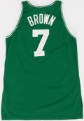 Basketball Collectibles:Uniforms, 1995-96 Dee Brown Game Worn Boston Celtics Jersey....