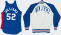 Basketball Collectibles:Uniforms, 1980's Buck Williams Game Worn New Jersey Nets Jersey and Warm UpJacket....