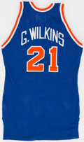 Basketball Collectibles:Uniforms, 1989 Gerald Wilkins Game Worn New York Knicks Jersey....