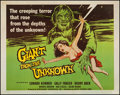 "Movie Posters:Horror, Giant from the Unknown (Astor Pictures, 1958). Half Sheet (22"" X 28""). Horror.. ..."