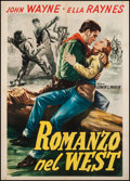 "Movie Posters:Western, Tall in the Saddle (RKO, R-1960). Italian 2 - Foglio (39"" X 55""). Western.. ..."