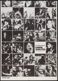 "Gimme Shelter (20th Century Fox, 1970). Trimmed One Sheet (29.5"" X 41"") Photo Montage Style. Rock and Roll..."